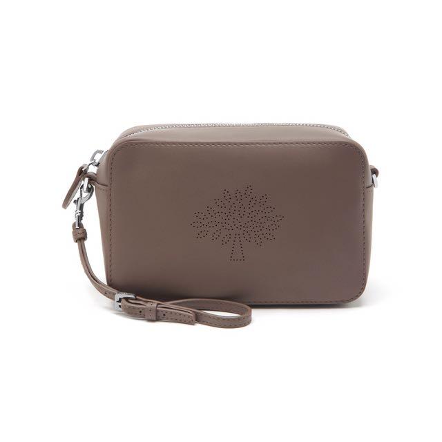 cbe9dd5435 Mulberry Blossom Pochette Black Leather Mini Crossbody Bag Wristlet ...