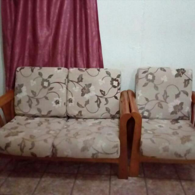 Narita Set Sofa Kayu 3 2 1 Dark Oak Home Furniture Furniture On