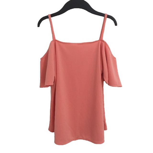 NEW❗️Cold shoulder top salmon
