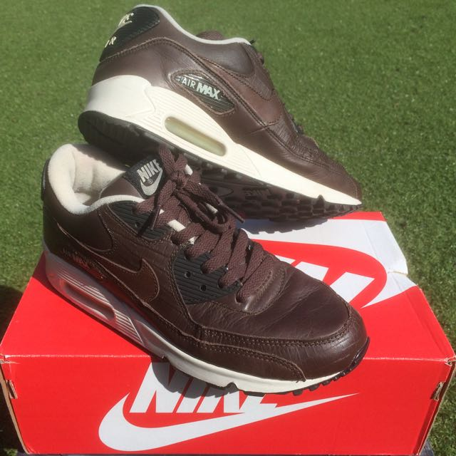 Nike Air Max 90 Brown Leather, Size 8US Unauthentic