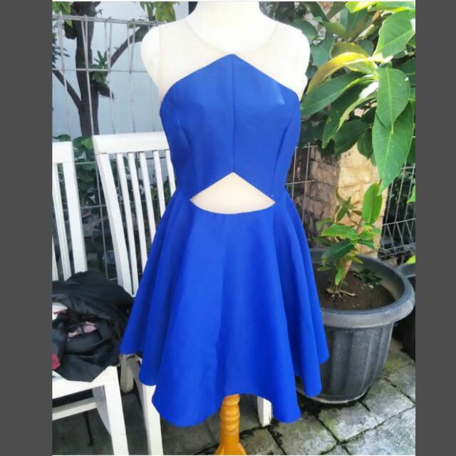 NyLA blue cut off dress