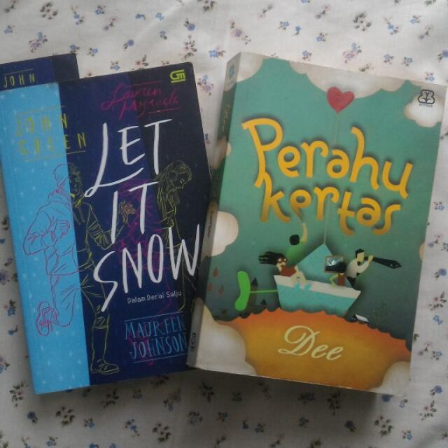 OBRAL 2 BUKU-PERAHU KERTAS & LET IT SNOW
