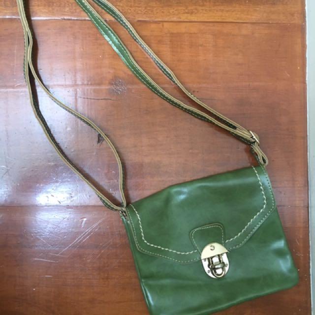 Olive Green Sling Bag