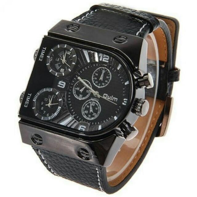 Oulm Mechanical Analog Quartz Men Leather Band Fashion Watch - 9315