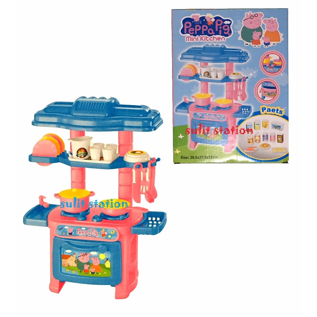 Peppa Pig Mini Kitchen Cooking With Utensils Toys Set On Carousell