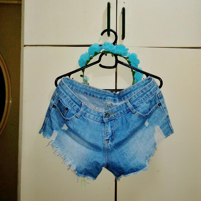 Plus Size Denim Shorts