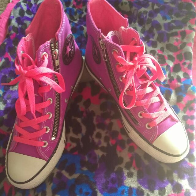 b7ac4b439092 Rare Purple and Hot Pink Hightop Converse All Star