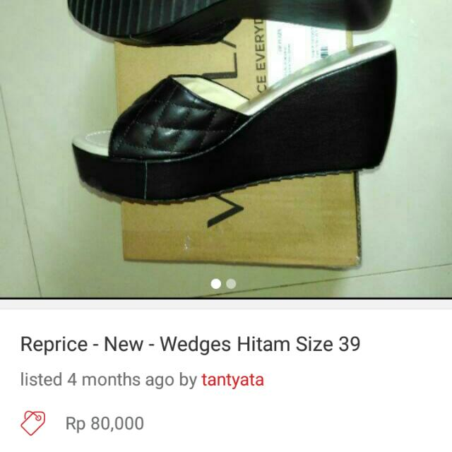 Reprice - New Wedges Size 39