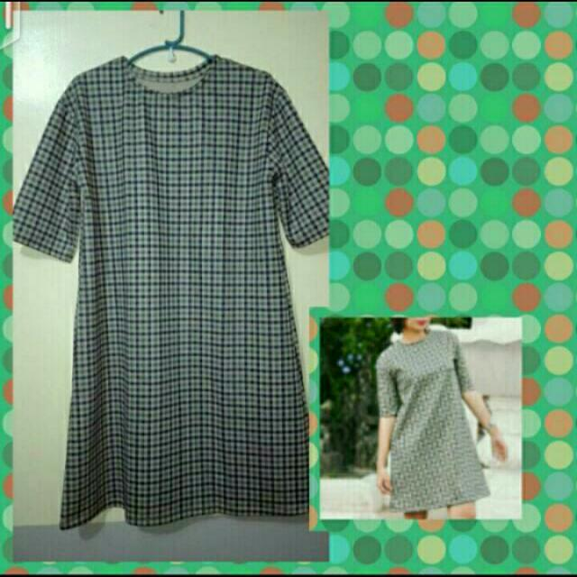 SALE!!! 3/4 Checkered Dress