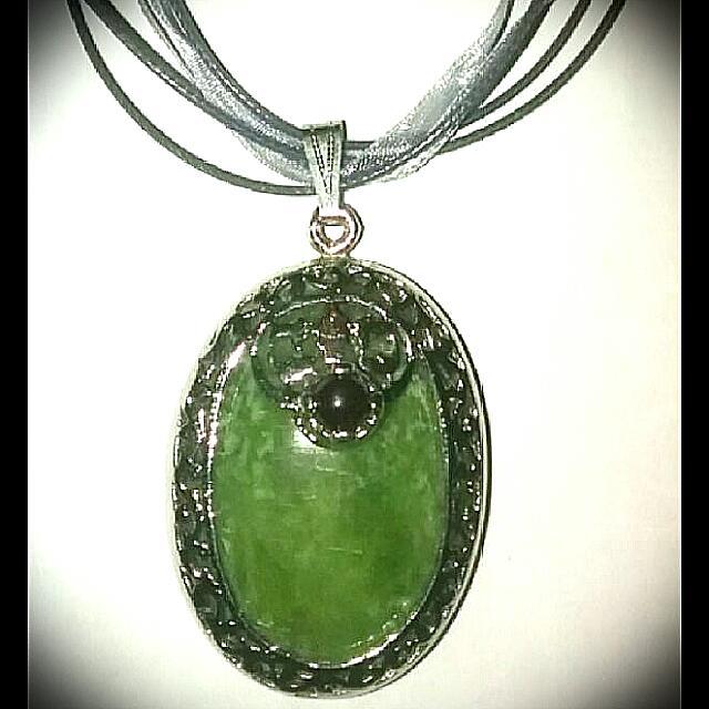 Silver Jade Pendant Necklace