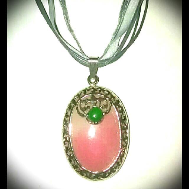 Silver Rose Quartz Pendant Necklace