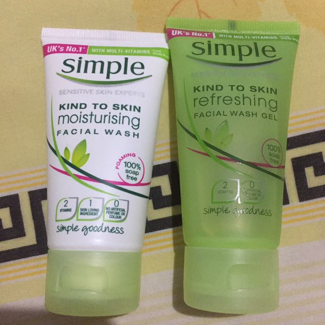 simple skin care facial wash 50ML @25.000/ satuan