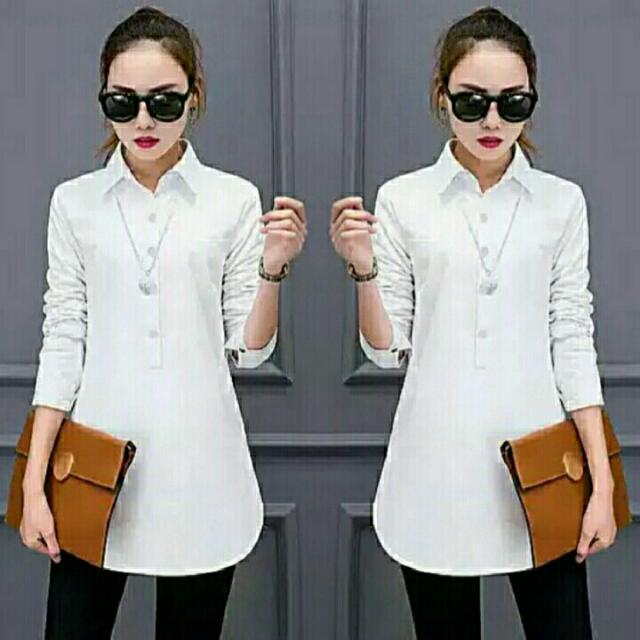 SOVIA WHITE (MQ) 80.000 bahan katun kamboja, good quality, LD 100, pjg 70, fit to XL (berat 0.16)