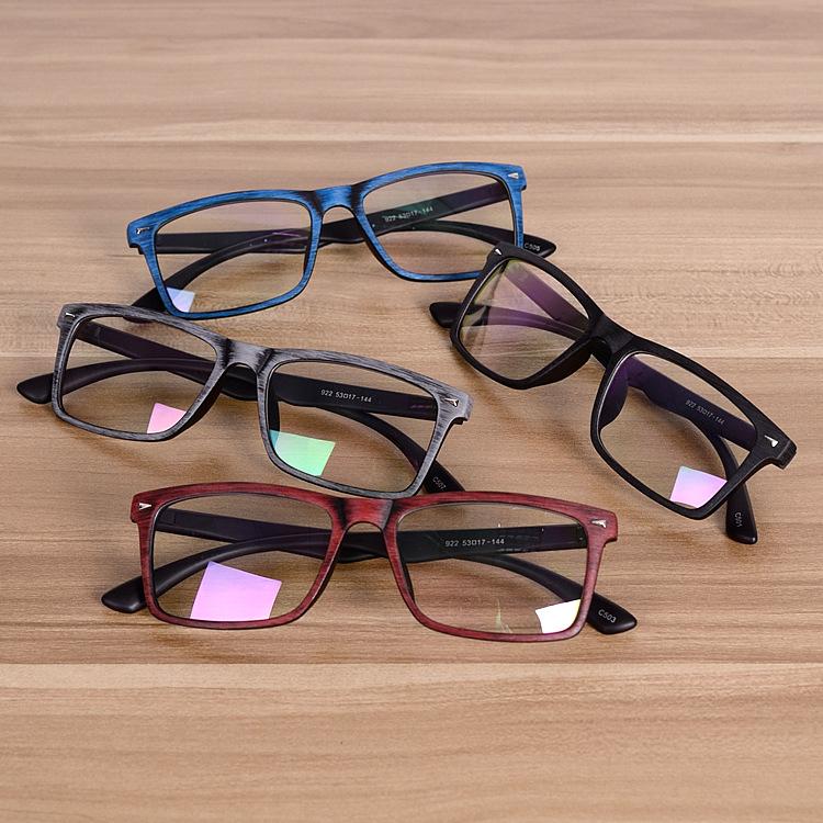 ffe2810a6f0 Square Wooden Eyeglasses Spectacles Frames Clear Lens Optical Frame  Prescription Glasses Frame Spectacle Men Women Eyewear Frames