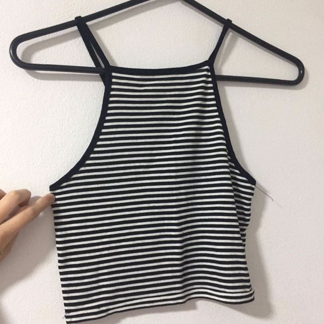 Stripped Crop Singlet
