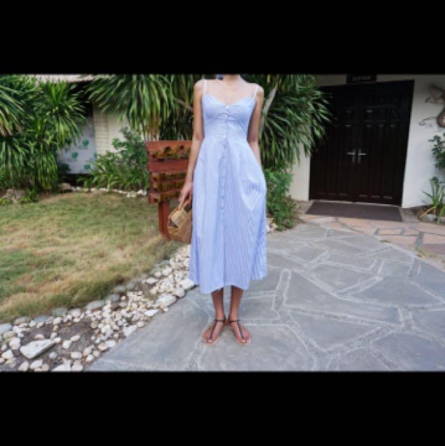 Stylenanda Inspired Striped Dress