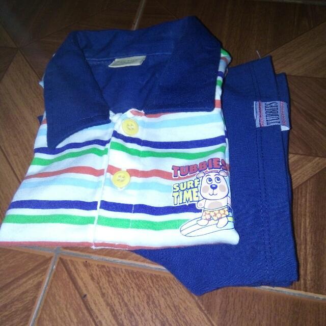 Terno Toddler Clothes Polo Shirt/short