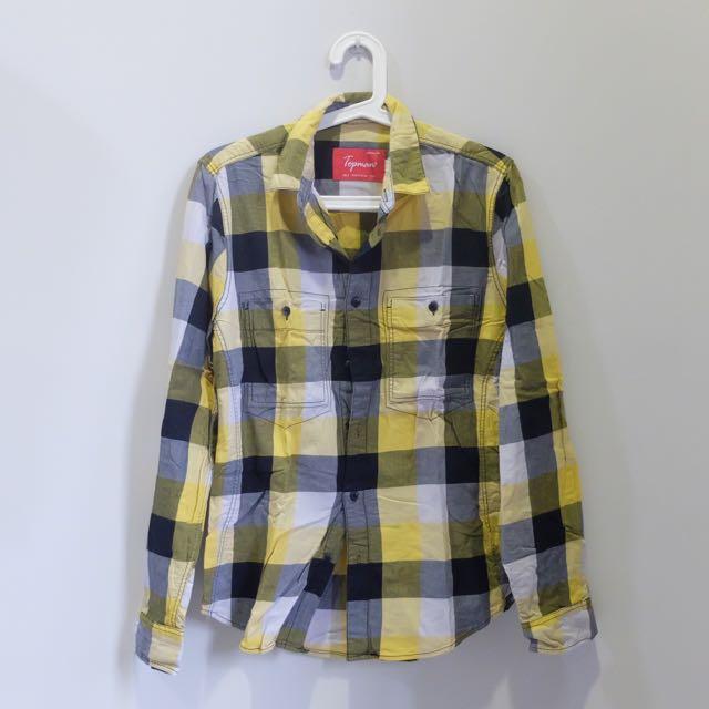 Topman Yellow Shirt