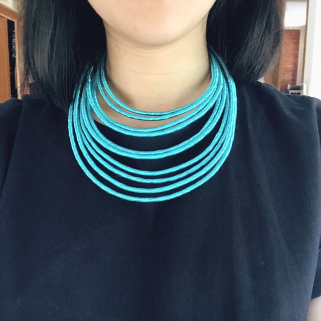 Turquoise Layered Necklace & Bangles