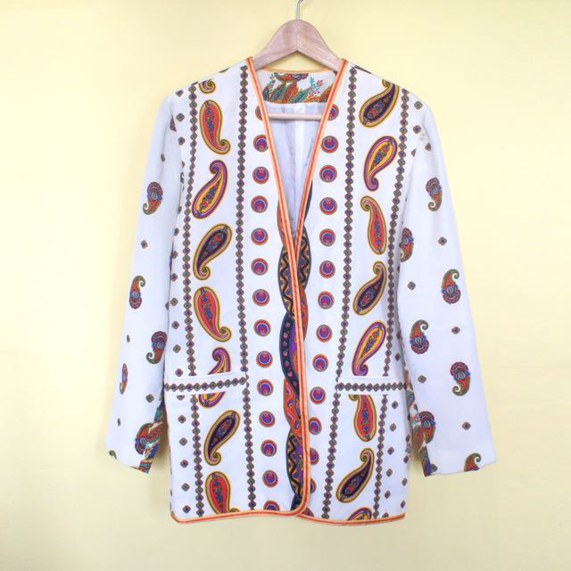 Vintage Versace-like Print Outer