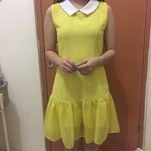 Yellow Flare Dress