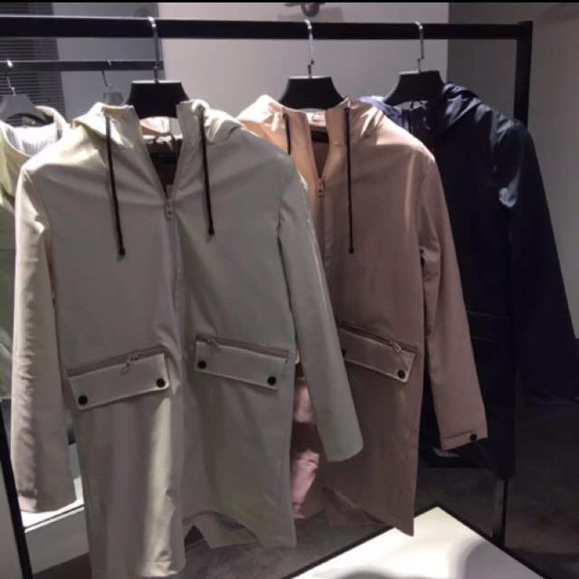 Zara防風防潑水風衣外套雨衣大衣