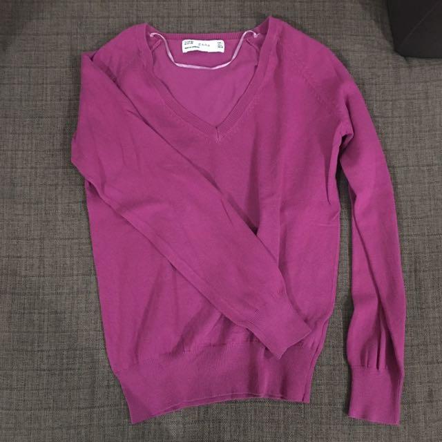 Zara Magenta Sweater