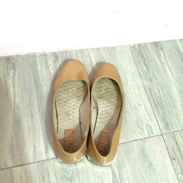 Zara Nude Flats