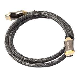 Braided Ultra HD HDMI Cable high speed with Ethernet HDTV 2160p 4K 3D CHROME 2M