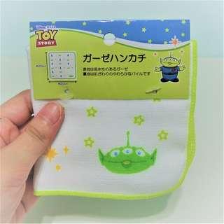 🚚 迪士尼 玩具總動員 三眼怪 手帕 方巾 毛巾 A