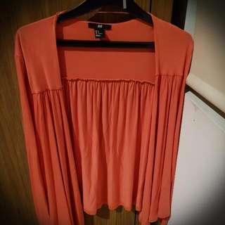 H&M Orange Outer Cardigan