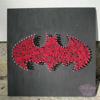 String Art - Red Batman Logo