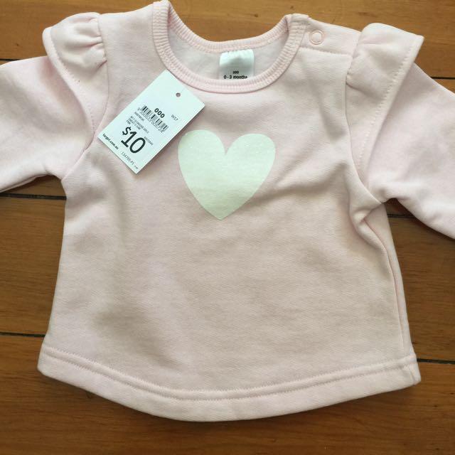 0-3 Months Baby Pink Jumper