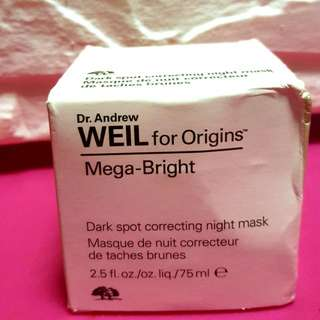 (Final deduction ) Dr Andrew Weils For ORIGINS Mega Bright Dark Spot Correcting Night Mask