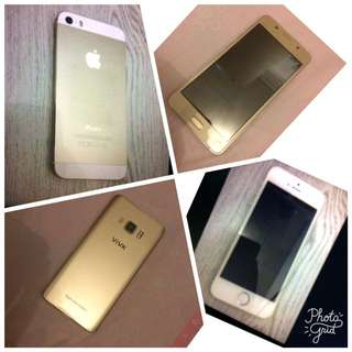 Iphone 5s GOLD 32gb & ViVk s6+ GOLD 16gb