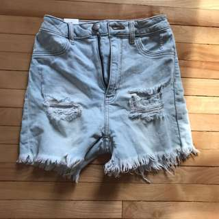 Light Wash Stretchy Denim Shorts