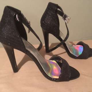 Black High heel Sandals/ Shoes New