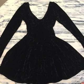 90s Vintage Velvet Dress Small