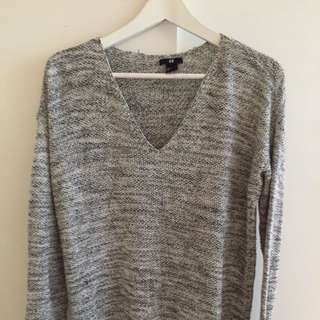 H&M Heater Grey Sweater
