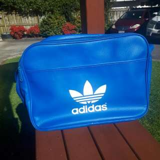 Authentic Blue Adidas Single Strapped Bag