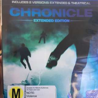 Chronicle - BlueRay DVD Movie Extended Edition