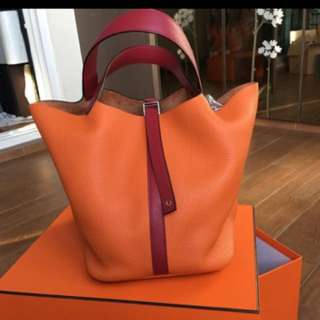 Hermes Picotin 26 Orange And Red
