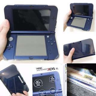 NINTENDO 3DS XL METALLIC BLUE (COMPLETE WITH 3 FREE GAMES)