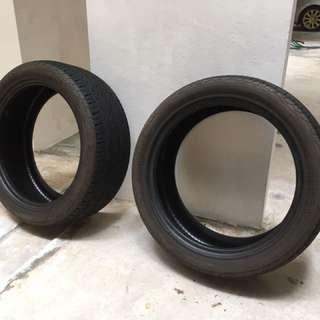 2 Pirelli P Zero Nero 215/45/R17 for $100