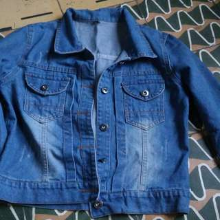 Denim Jacket and 2 Crop top shirt(Sold as set)