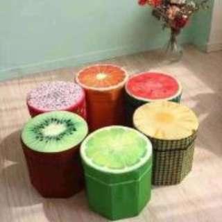 Fruit Design Ottoman Storage Chair