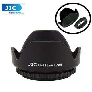 JJC LS-52 (52mm) Universal flower Screw-in Lens Hood for Standard Zoom Lens (Reverse Mount Possible)