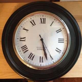 Wall Clock - Solid Dark Wood
