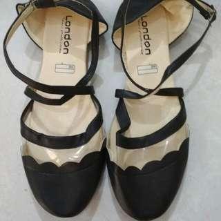 Flat shoes Balerina Hitam