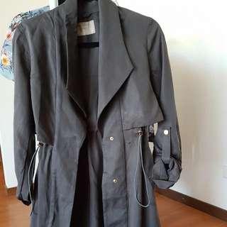 Forcast Duster Coat Grey Sz 6